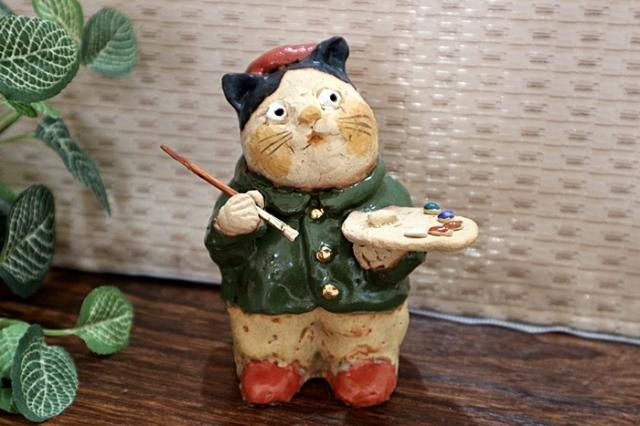 ささきようこ 猫 猫のアーティスト 陶人形