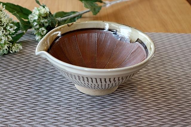 すり鉢 中鉢 とびかんな 宝山窯