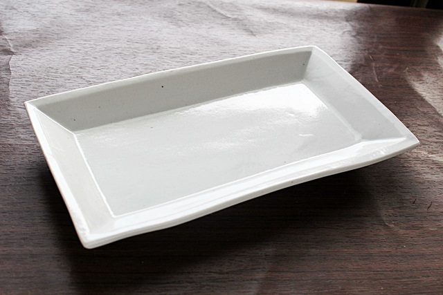 九谷青窯 焼き物皿 長角皿