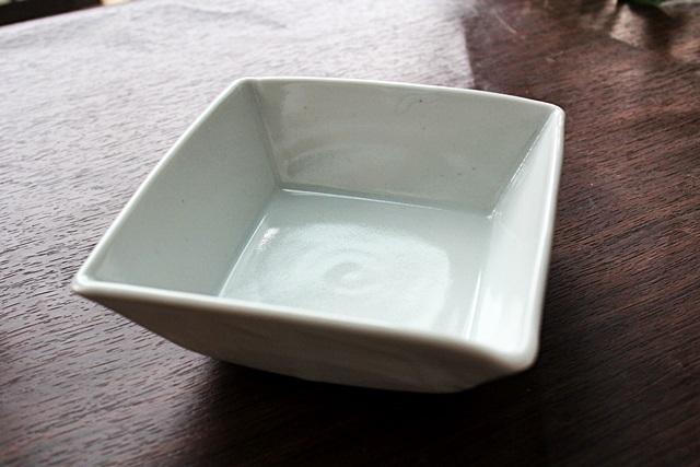 九谷青窯 鉢 角鉢  白磁