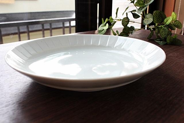 九谷青窯 ミート皿 白磁  .8.5寸皿