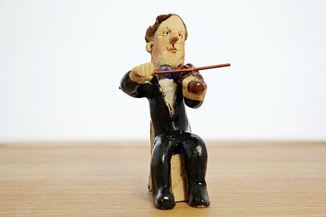 ささきようこ  バイオリン 男性 オーケストラ人形