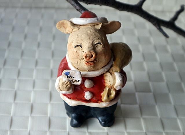 ささきようこ クリスマス サンタクロース 豚