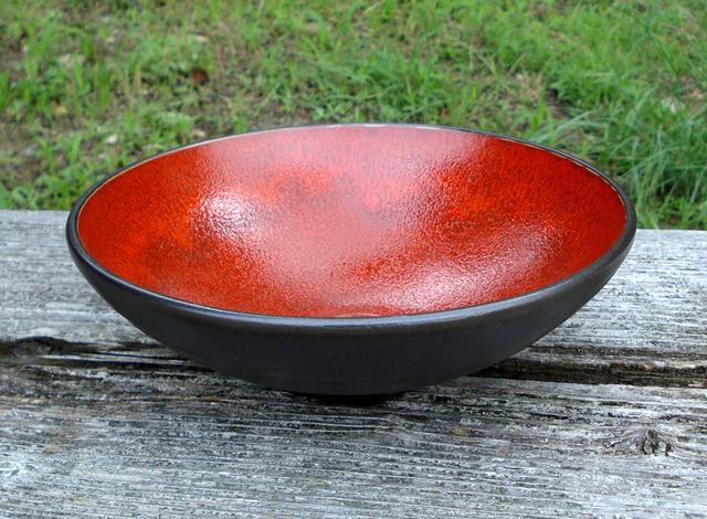 陶器 美濃 宗山窯 鉢 赤の鉢