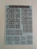ナンバーデカールシリーズ MO3:シャドー45°黒 Numbers&Letters