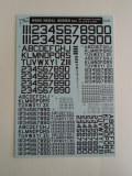 ナンバーデカールシリーズ MO1:60°黒 Numbers&Letters