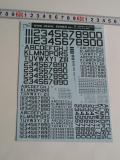 ナンバーデカールシリーズ MO1:60°ダークシーグレー Numbers&Letters