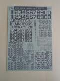 ナンバーデカールシリーズ MO1:60°ダークゴーストグレー Numbers&Letters