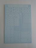 ナンバーデカールシリーズ MO1:60°白 Numbers&Letters