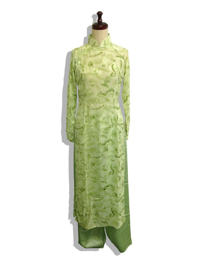 【特価】【アウトレットセール】(aod162-L-01)_Lサイズ_ベトナム民族衣装_長袖_アオザイ
