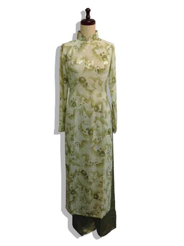 【特価】【アウトレットセール】(aod163-M-01)_Mサイズ_ベトナム民族衣装_長袖_アオザイ