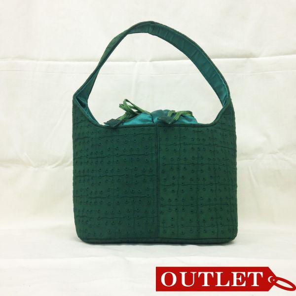 【特価】【アウトレットセール】(b267-01)_バッグ_リングドットバッグ(深緑)