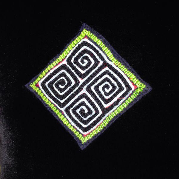 【特価】【アウトレットセール】(b334-05)_バッグ_モン族ベロアバッグ(黒)