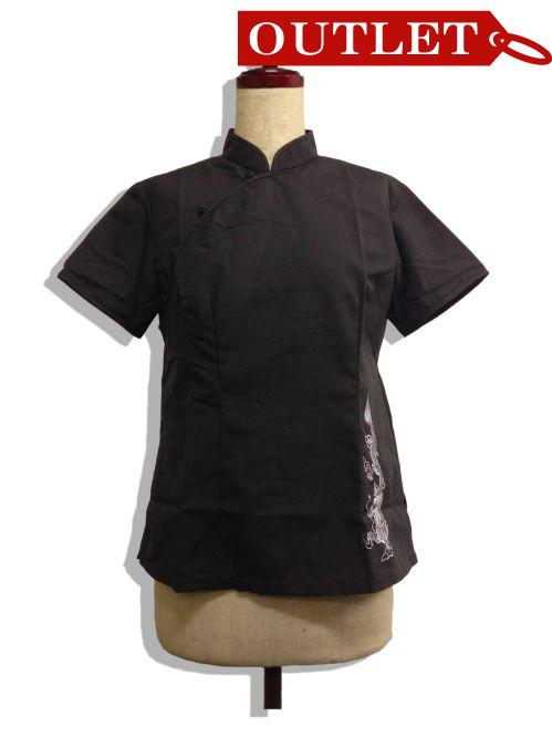 【特価】【アウトレットセール】(fh030-L_01)_Lサイズ_トップス_半袖_【メンズ】ベトナムシルクシャツ(黒)
