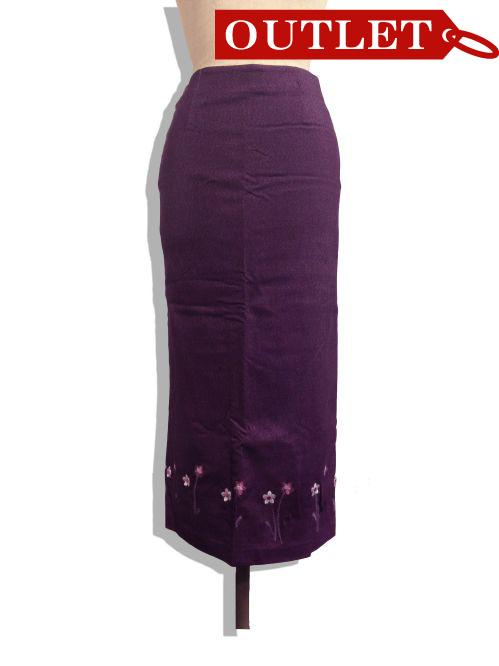 【特価】【アウトレットセール】(fop035-M-01)_Mサイズ_ボトムス_スカート_プラム色ロングスカート