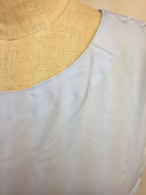 【特価】【アウトレットセール】(fop050-L-05)_Lサイズ_ワンピース_ノースリーブ_刺繍ワンピース(ライトブルー)