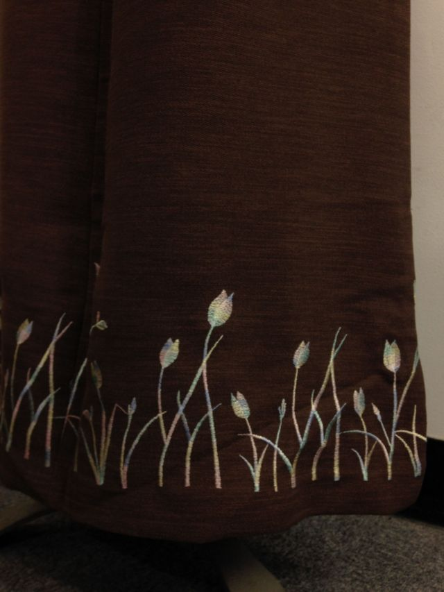 【特価】【アウトレットセール】(fop058-L-07)_Lサイズ_ボトムス_スカート_セピア色ロングスカート