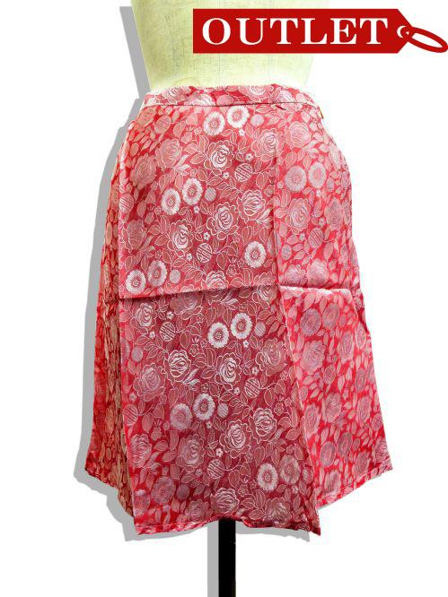 【特価】【アウトレットセール】(fop059-L-01)_Lサイズ_ボトムス_スカート_シルクスカート(ピンク)