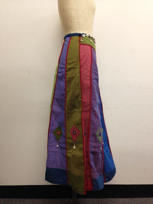 【特価】【アウトレットセール】(fop063-M-03)_Mサイズ_ボトムス_スカート_貝殻装飾スカート(001)