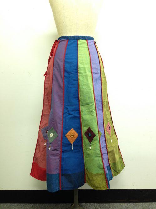 【特価】【アウトレットセール】(fop063-M-04)_Mサイズ_ボトムス_スカート_貝殻装飾スカート(001)