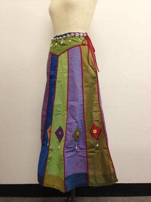 【特価】【アウトレットセール】(fop063-M-05)_Mサイズ_ボトムス_スカート_貝殻装飾スカート(001)