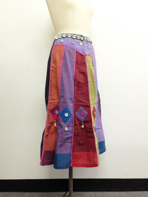 【特価】【アウトレットセール】(fop064-M-02)_Mサイズ_ボトムス_スカート_貝殻装飾スカート(002)
