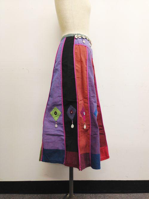 【特価】【アウトレットセール】(fop064-M-03)_Mサイズ_ボトムス_スカート_貝殻装飾スカート(002)