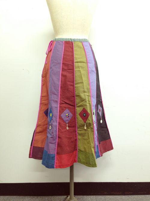 【特価】【アウトレットセール】(fop064-M-04)_Mサイズ_ボトムス_スカート_貝殻装飾スカート(002)