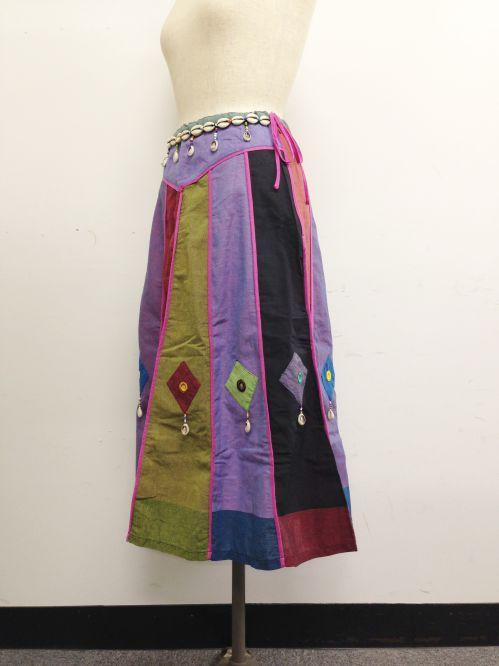 【特価】【アウトレットセール】(fop064-M-05)_Mサイズ_ボトムス_スカート_貝殻装飾スカート(002)