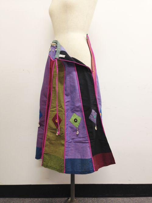 【特価】【アウトレットセール】(fop064-M-06)_Mサイズ_ボトムス_スカート_貝殻装飾スカート(002)
