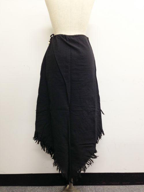【特価】【アウトレットセール】(fop067-L-04)_Lサイズ_ボトムス_スカート_貝装飾スカート_黒/青(003)