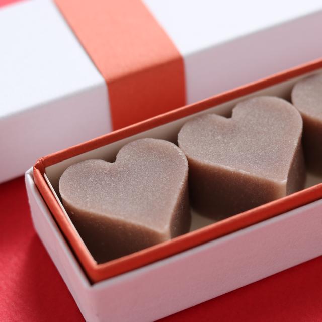 バレンタイン限定 和菓子 ハート型