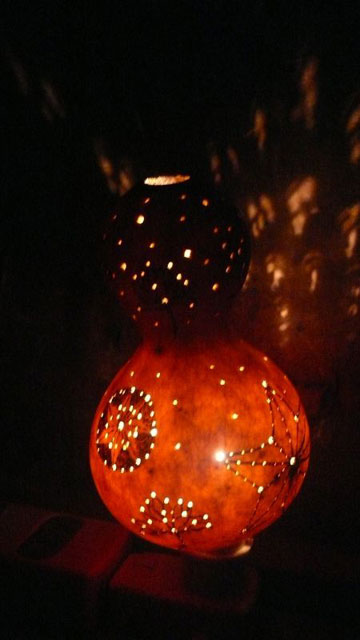 宮崎朝子・ひょうたんナイトライト(蓮と麻)