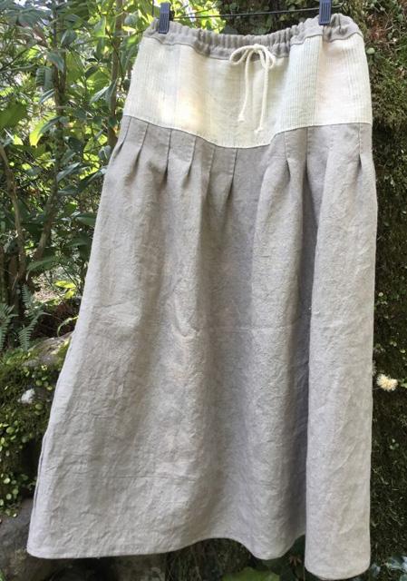 宮崎朝子・(ラミーリネン+手織りヘンプ)スカート