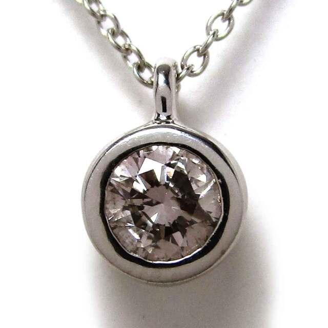 レディースネックレス ダイヤモンド K18WG トップ6*8.5mm - TAK2000649