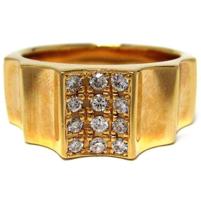 メンズリング ダイヤモンド K18 20.5号 - TAK2000752
