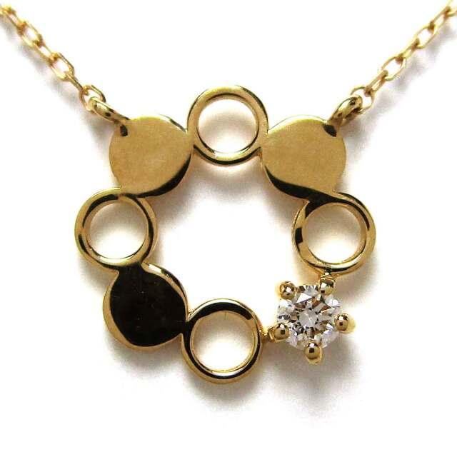 レディースネックレス ダイヤモンド(1P) K18 トップW9.5*H9.5mm - TAK2100495