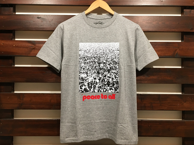 STANDARD CALIFORNIA peace to all T-SHIRT GRAY 「メール便OK」