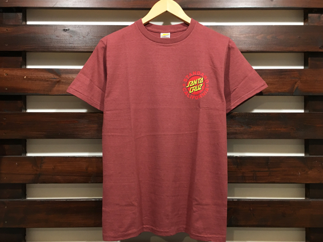 SANTA CRUZ × STANDARD CALIFORNIA T-SHIRT BURGUNDY 「メール便OK」