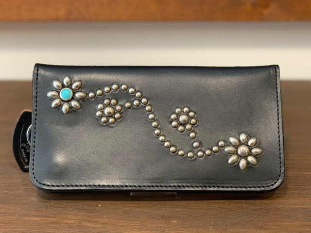 【送料無料】HTC × STANDARD CALIFORNIA LONG WALLET #125 FLOWER TURQUOISE BLACK