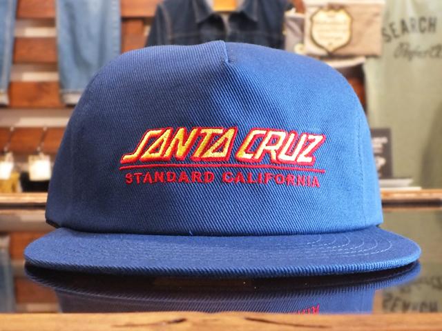 SANTA CRUZ × STANDARD CALIFORNIA TWILL CAP TYPE2 BLUE
