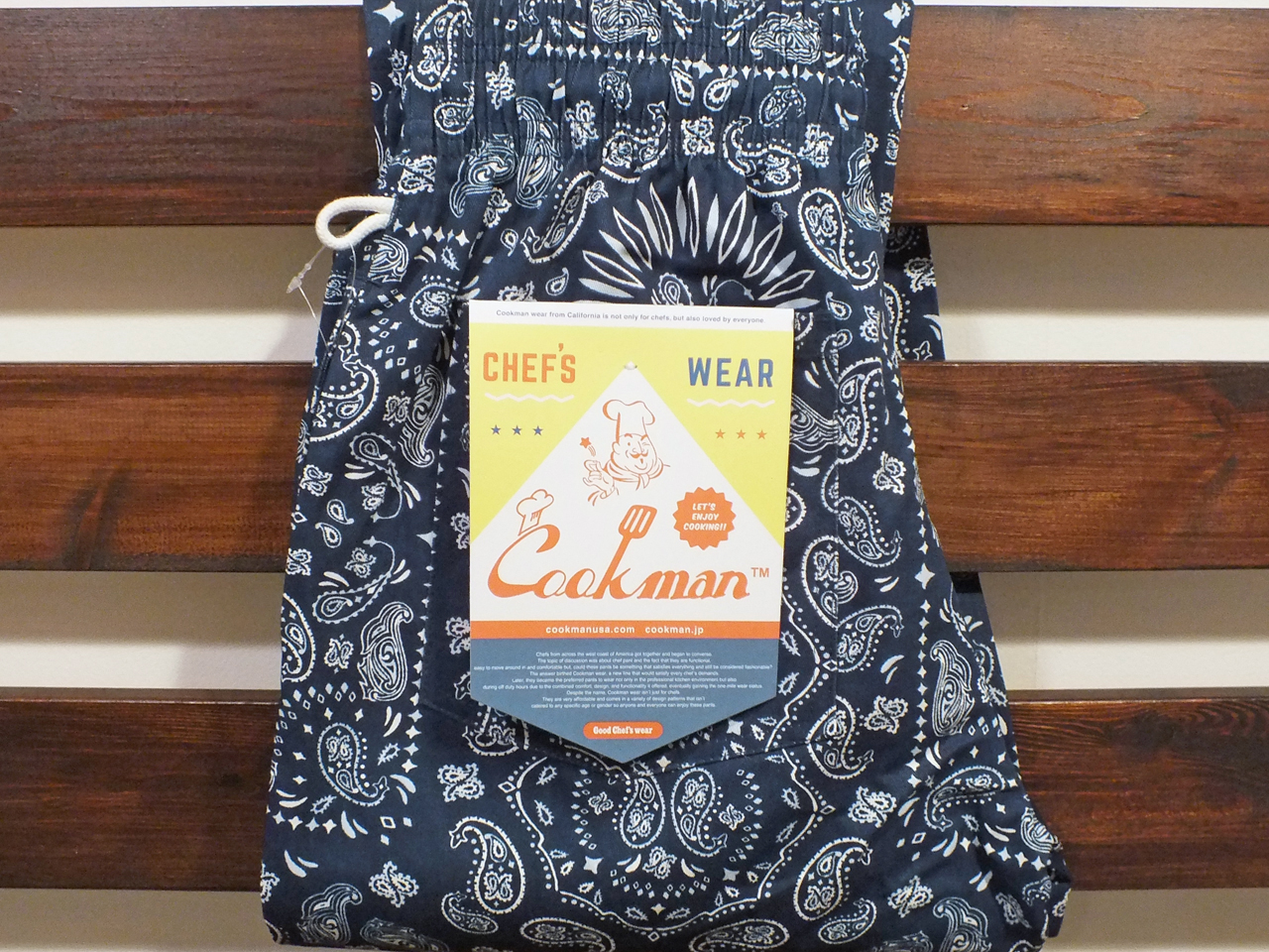 COOKMAN LOS ANGELES CALIFORNIA CHEF PANTS PAISLEY NAVY