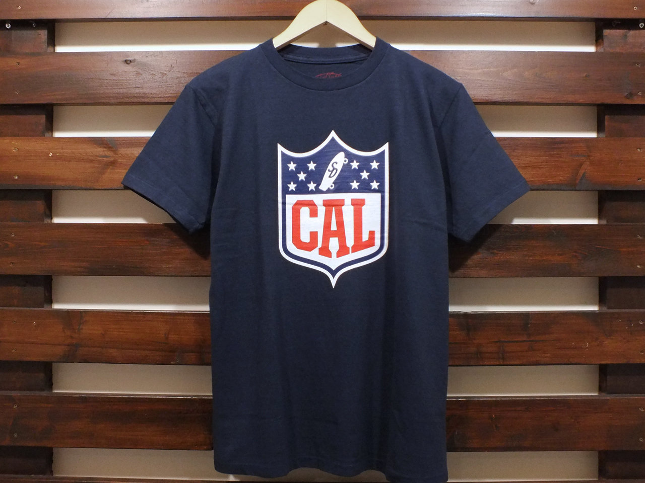STANDARD CALIFORNIA CAL SHIELD LOGO T-SHIRT NAVY 「メール便OK」
