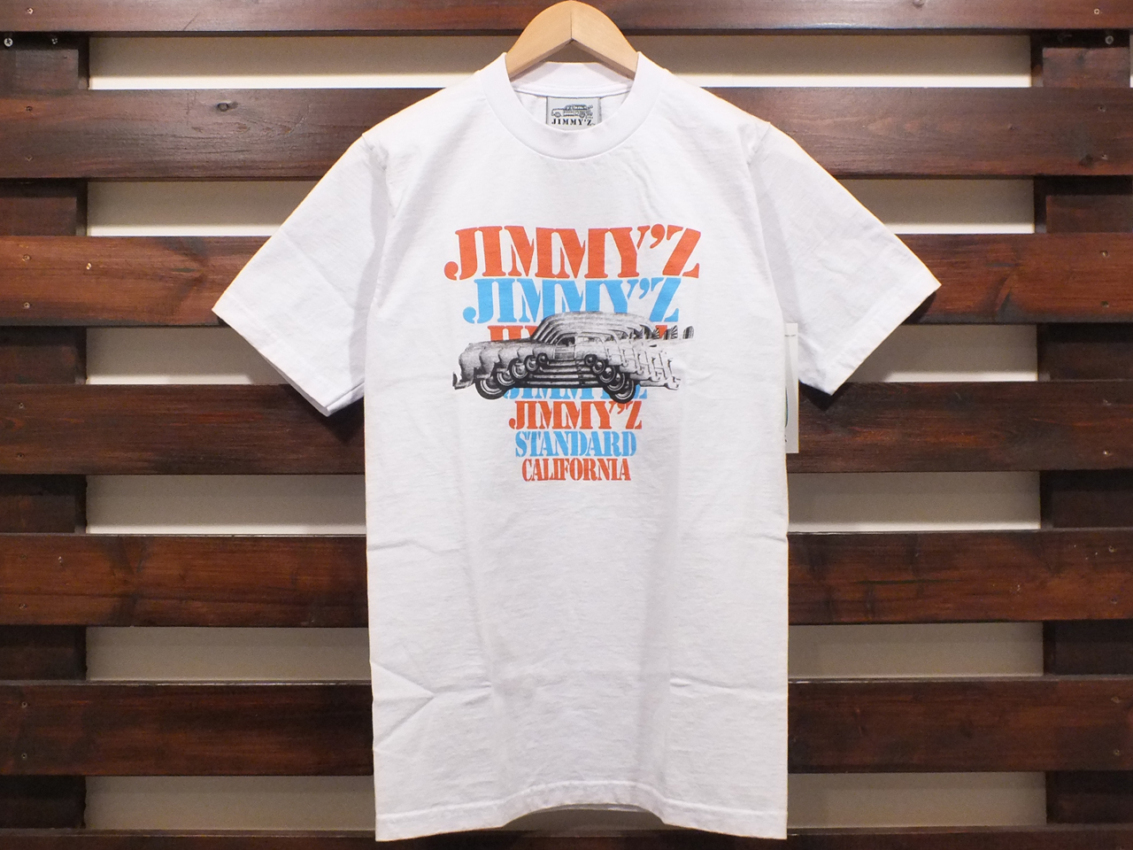 JIMMY'Z×STANDARD CALIFORNIA LOGO T-SHIRT WHITE 「メール便OK」