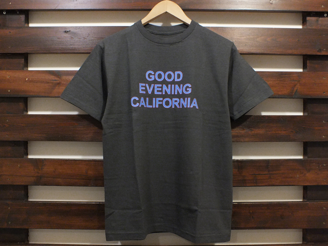 STANDARD CALIFORNIA GOOD EVENING CALIFORNIA T-SHIRT BLACK 「メール便OK」