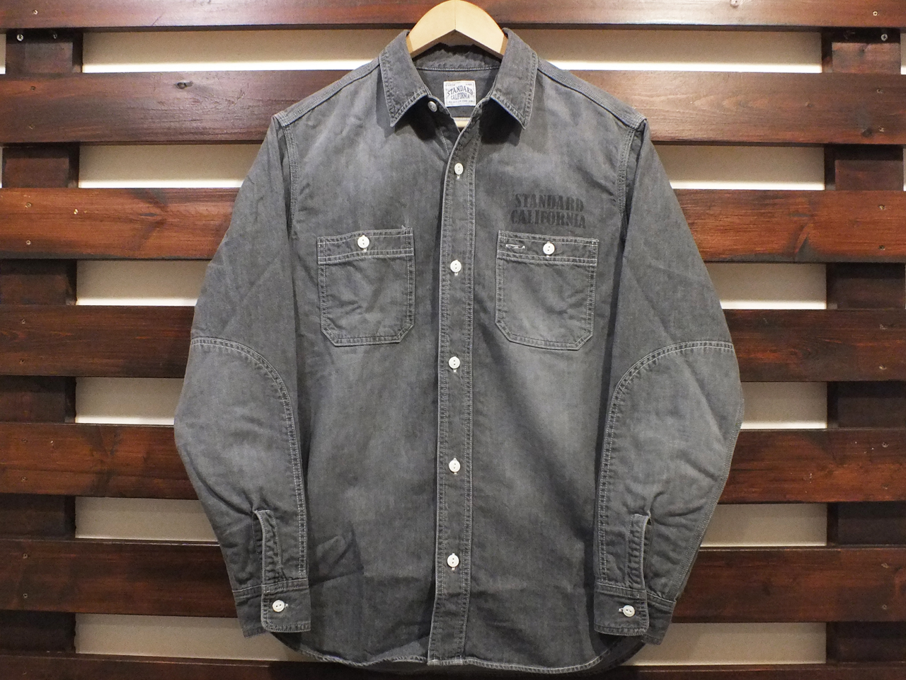 【送料無料】STANDARD CALIFORNIA DENIM WORK SHIRT BLACK