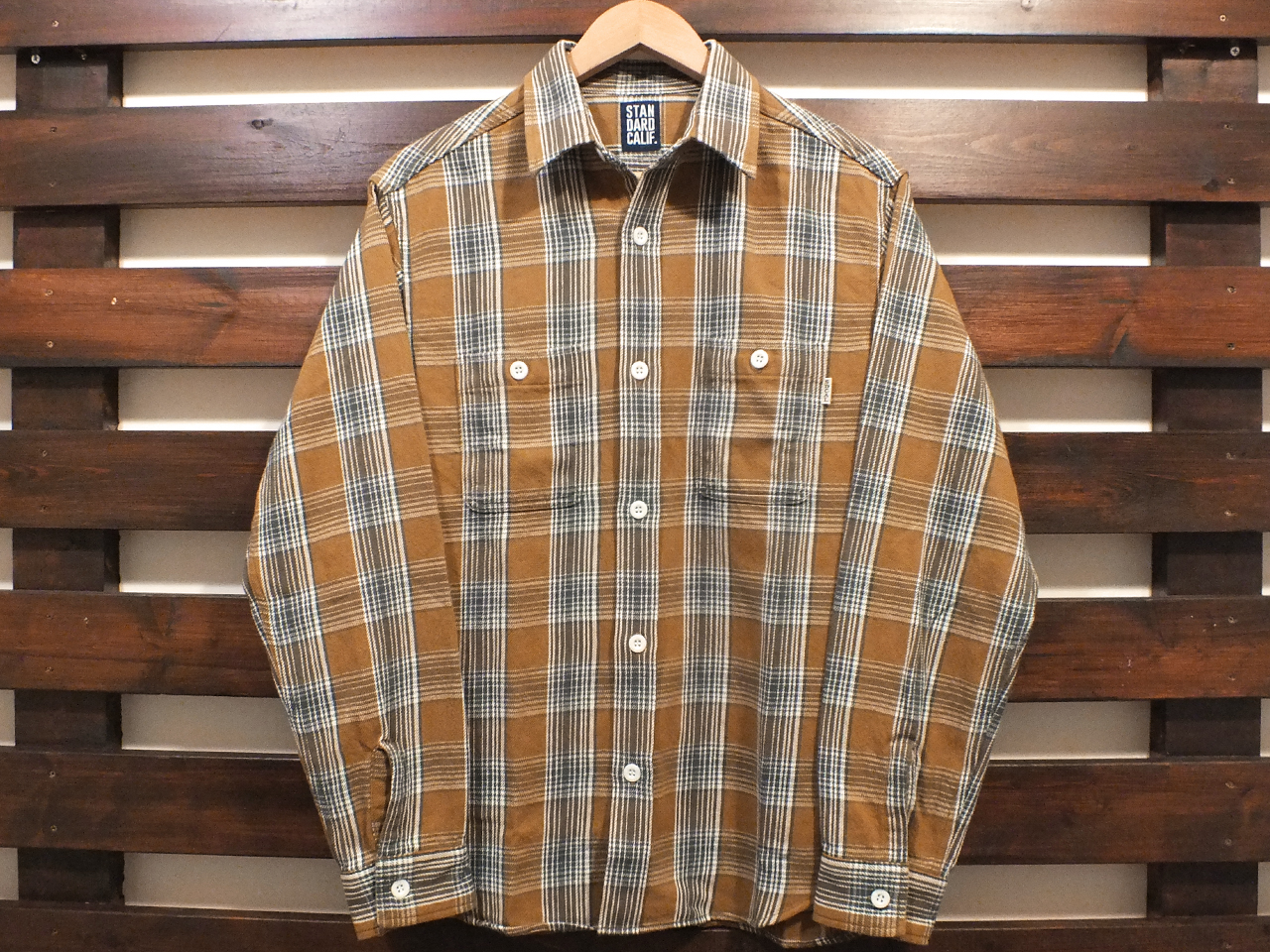 【送料無料】STANDARD CALIFORNIA FLANNEL CHECK SHIRT BEIGE