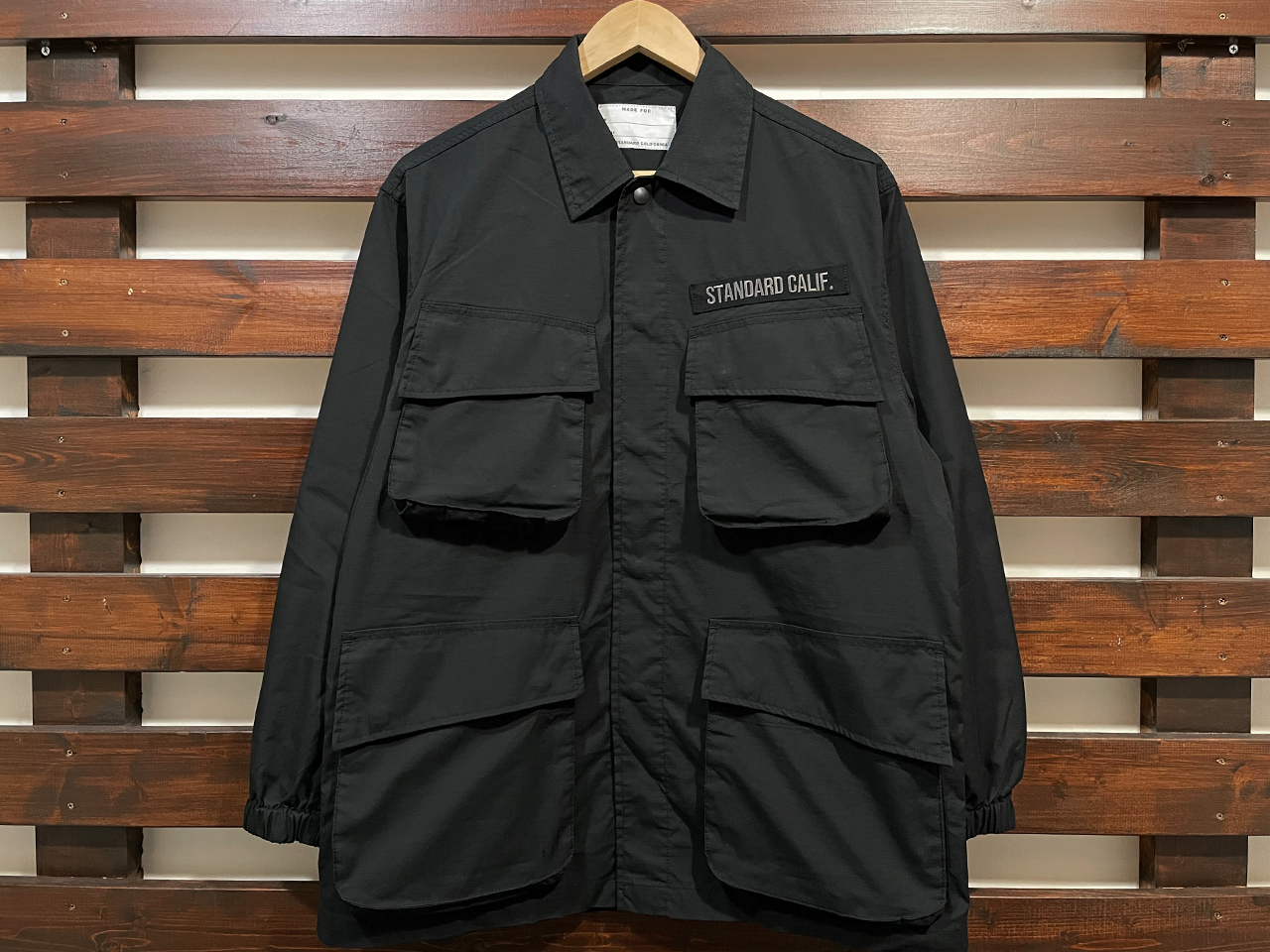 【送料無料】STANDARD CALIFORNIA COOLMAX STRETCH RIPSTOP JUNGLE FATIGUE JACKET BLACK