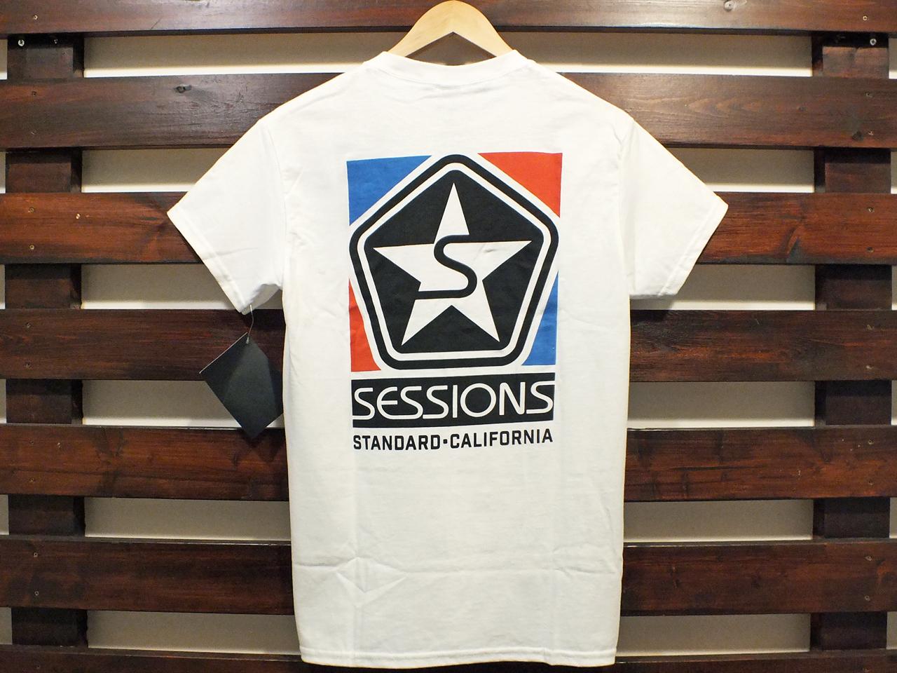 SESSIONS × STANDARD CALIFORNIA LOGO T-SHIRT WHITE 「メール便OK」