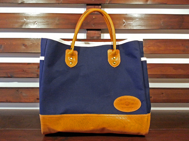 【送料無料】THE OLD SAILOR'S CANVAS & LEATHER TOTE BAG NAVY